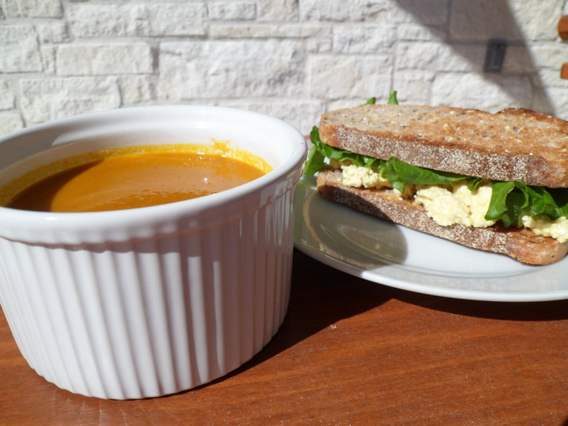 carrot soup eggless egg salad