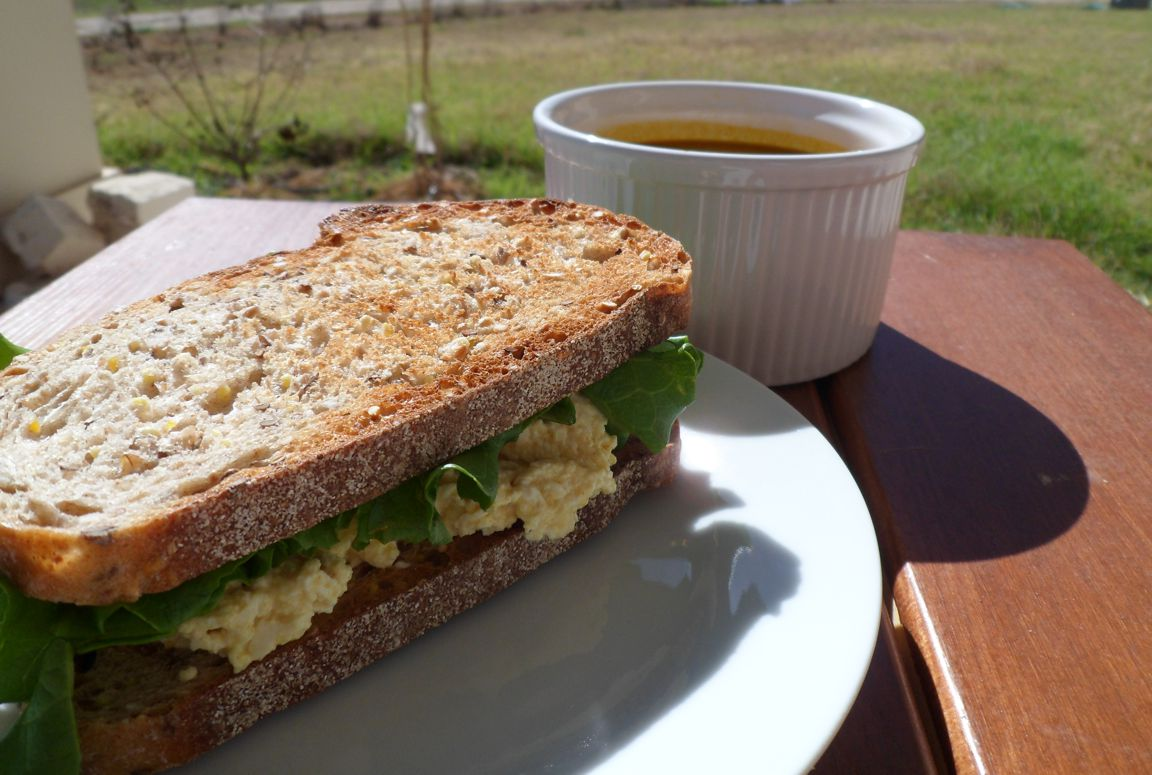 eggless egg salad carrot soup