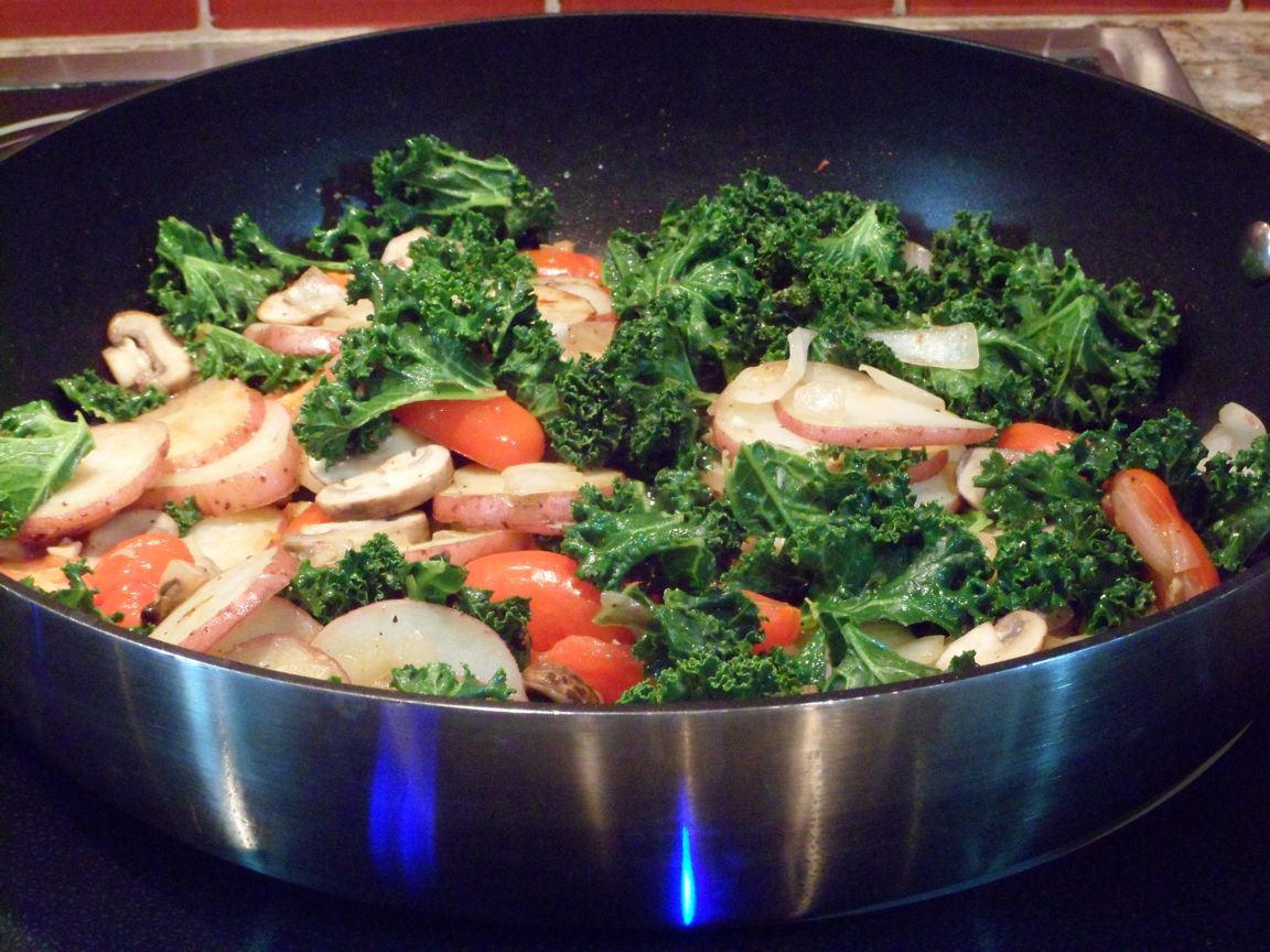 kale stir fry  finished
