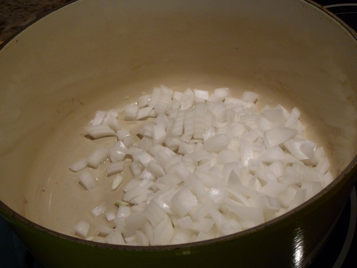 onions cooking pan